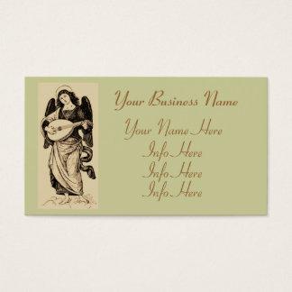 Angel With Mandolin Business Card
