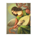 Angel With Mandolin Stretched Canvas Prints