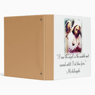 Angel with Michelangelo quote 3 Ring Binder