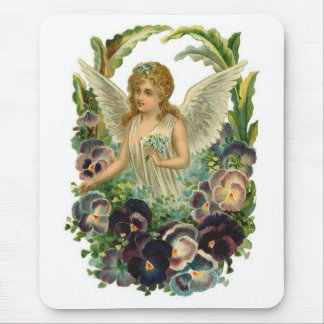 Angel with Pansies Mouse Pad
