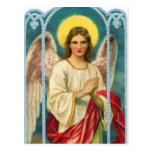 Angel With Pink Ribbon Triptych Postcard