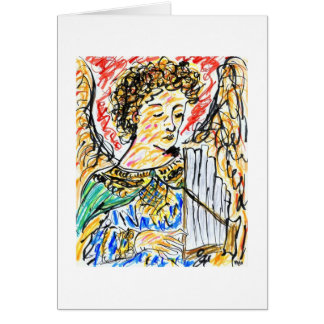 Angel With Pipes Card