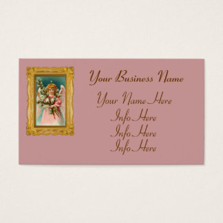 Angel With Pretty Pink Dress Business Card