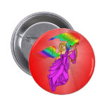 Angel with Rainbow Wings Button