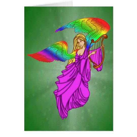 Angel with Rainbow Wings Card