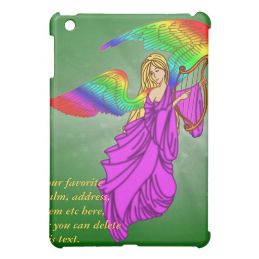 Angel with Rainbow Wings Case For The iPad Mini