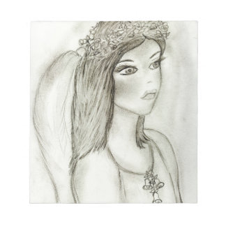 Angel with Rose Notepad