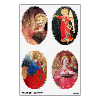 ANGEL WITH ROSES / ANNUNCIATION ANGELS WALL DECAL