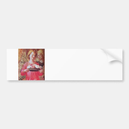 ANGEL WITH ROSES BUMPER STICKER