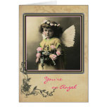 Angel with Roses Card