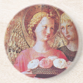 ANGEL WITH ROSES DRINK COASTER