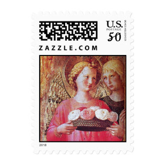 ANGEL WITH ROSES POSTAGE
