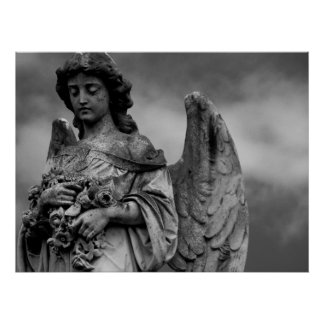 Angel with Roses Poster