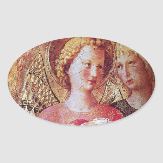 ANGEL WITH ROSES STICKERS