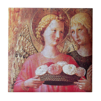 ANGEL WITH ROSES TILE