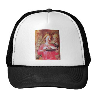 ANGEL WITH ROSES TRUCKER HAT