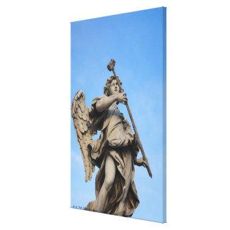 Angel with sponge on Sant Angelo Bridge, the Canvas Print