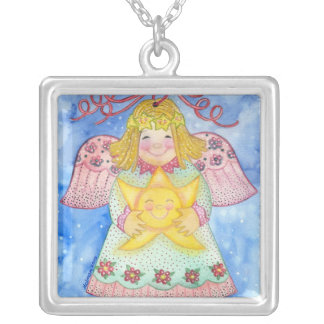 Angel with Star Necklace