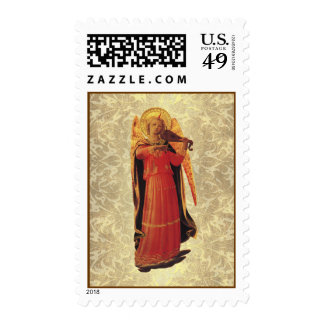 Angel with String Instrument Postage