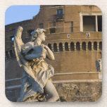 Angel with Superscription in front of the Castel Drink Coaster