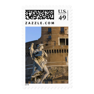 Angel with Superscription in front of the Castel Stamp