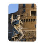 Angel with Superscription in front of the Castel Rectangular Photo Magnet