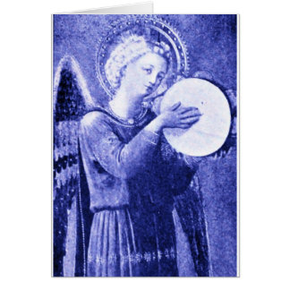 Angel with Tambourine Card
