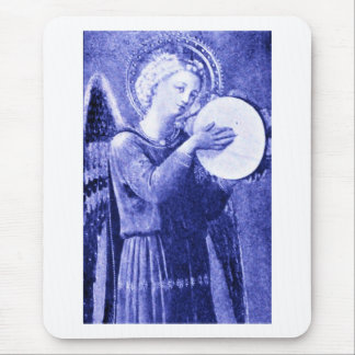 Angel with Tambourine Mouse Pad