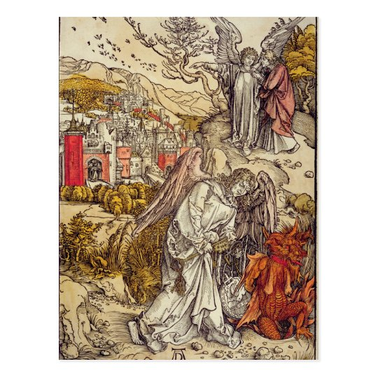 Angel with the Key of the Abyss, 1498 Postcard