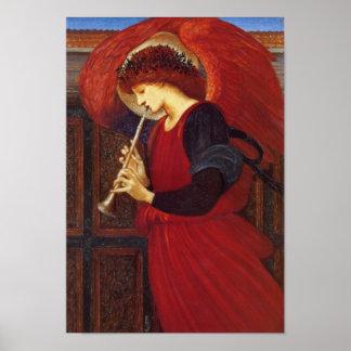 Angel with Trumpet Burne Jones Print
