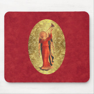 Angel with Trumpet Mouse Pad