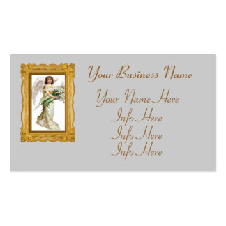 Angel With White Lilies Business Card Template