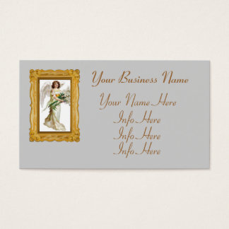 Angel With White Lilies Business Card