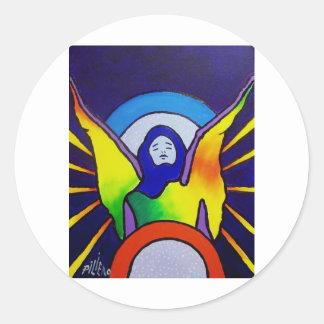 Angel Within Classic Round Sticker