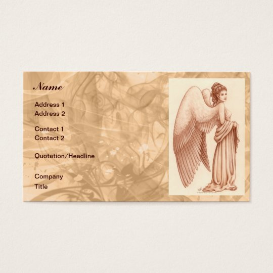Angel Woman Business Card