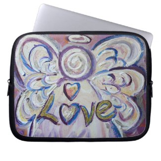 Angel Word Love Computer Sleeve Electronics Bag