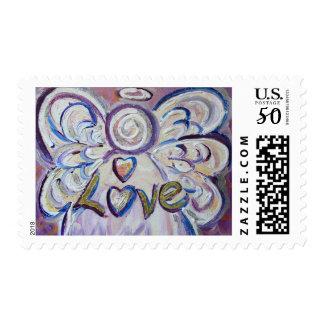Angel Word Love Postage Stamp