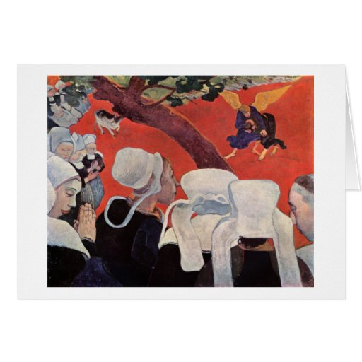 Angel Wrestling with Jacob, Paul Gauguin Stationery Note Card