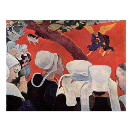 Angel Wrestling with Jacob, Paul Gauguin Postcard