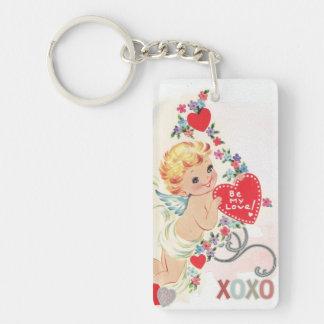 Angel xoxo red heart keychain