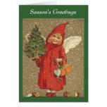 Ángel y árbol tarjetas