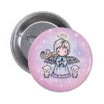 Ángel y botón del Pin del día de fiesta de los oso