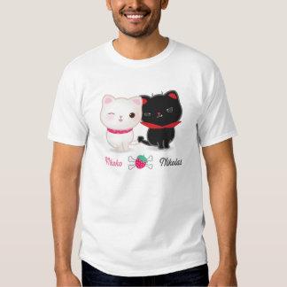 Ángel y camiseta básica de los gatos del diablo playera