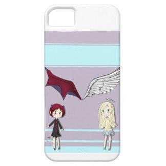 Ángel y caso del diablo iPhone 5 protector