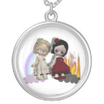 ángel y chicas del cutie del diablo grimpola personalizada