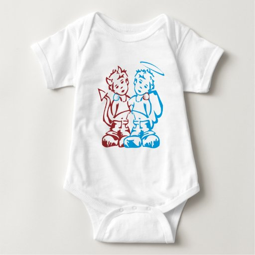 Ángel y demonio body para bebé
