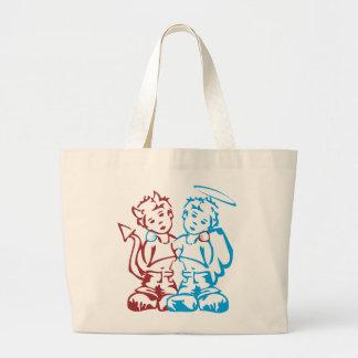 Ángel y demonio bolsas de mano
