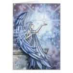 Ángel y estrella de la tarjeta de Navidad