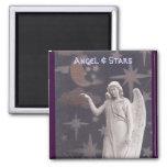 Ángel y estrellas imán de nevera
