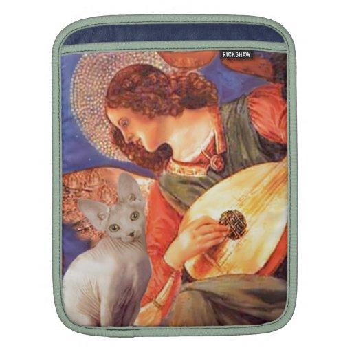 Ángel y gato de la esfinge funda para iPads